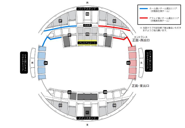 横断幕掲出エリア(GA神戸・神戸中央)